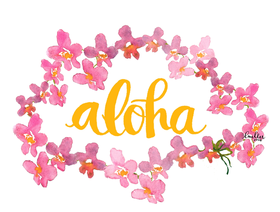 Handwritten Aloha Custom Art Calligraphy In Hawaii