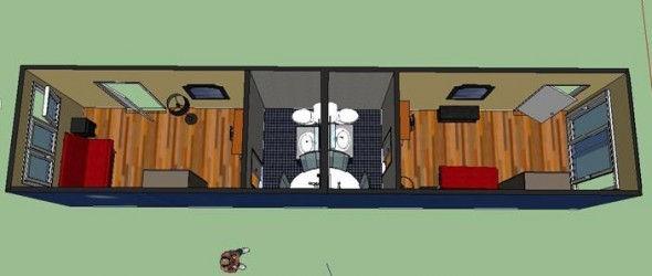 Le logement container la r union le projet - Amenagement d un conteneur ...
