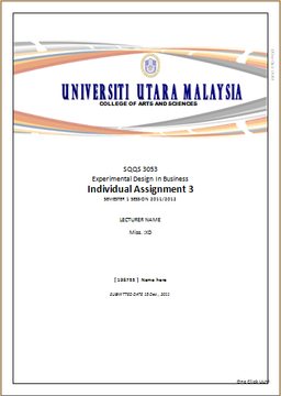 cover page for assignment