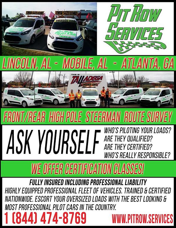 Pit Row Pilot Car Services