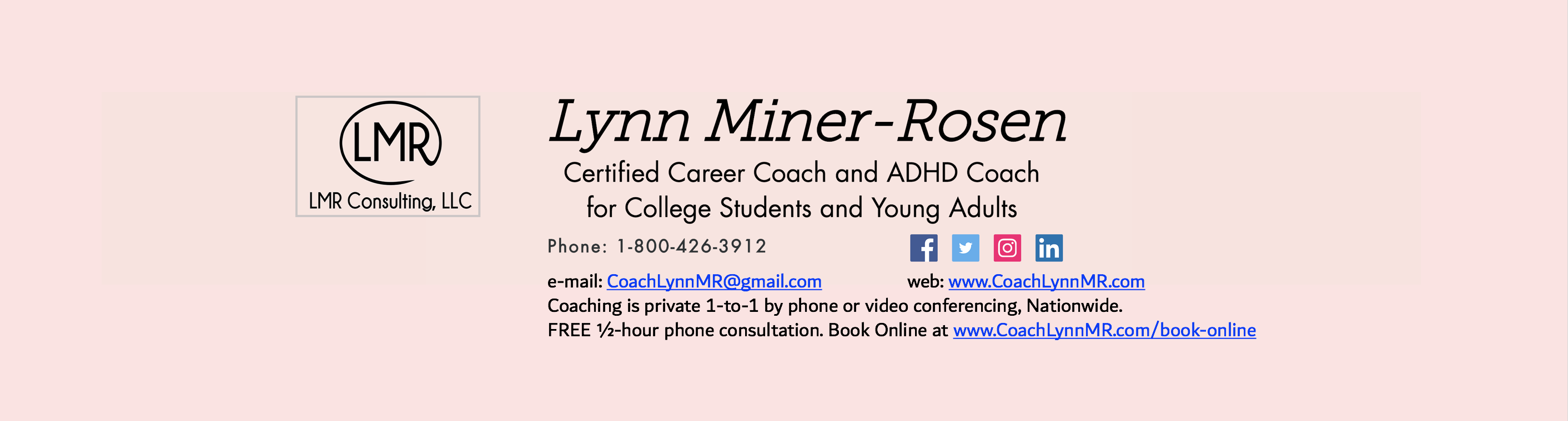 Adhd Coach Career Development Coach Nationwide Lmr Coaching Llc