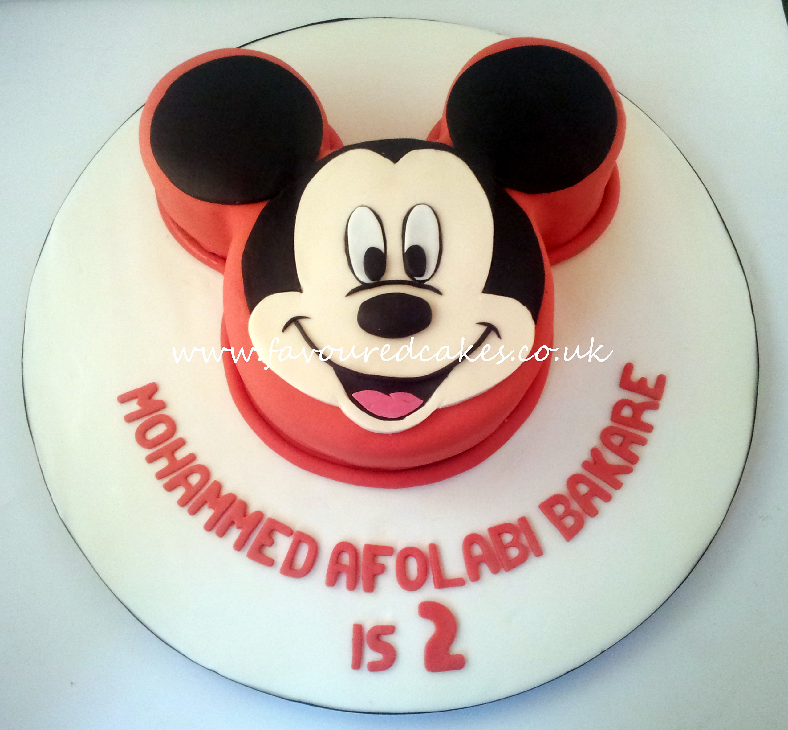 Images Of Mickey Mouse Face Cakes
