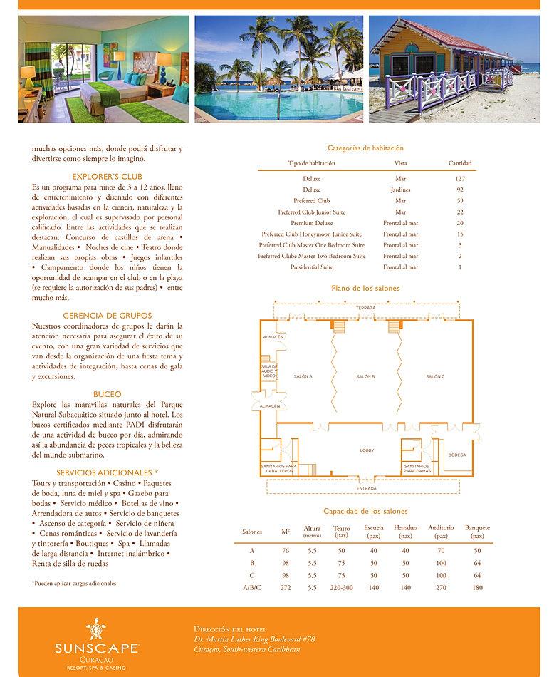Información sobre las caracteristicas del hotel