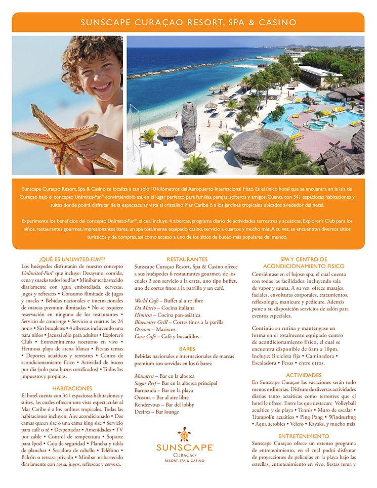 Descripcion del Sunscape Curacao hotel todo incluido en Curacao