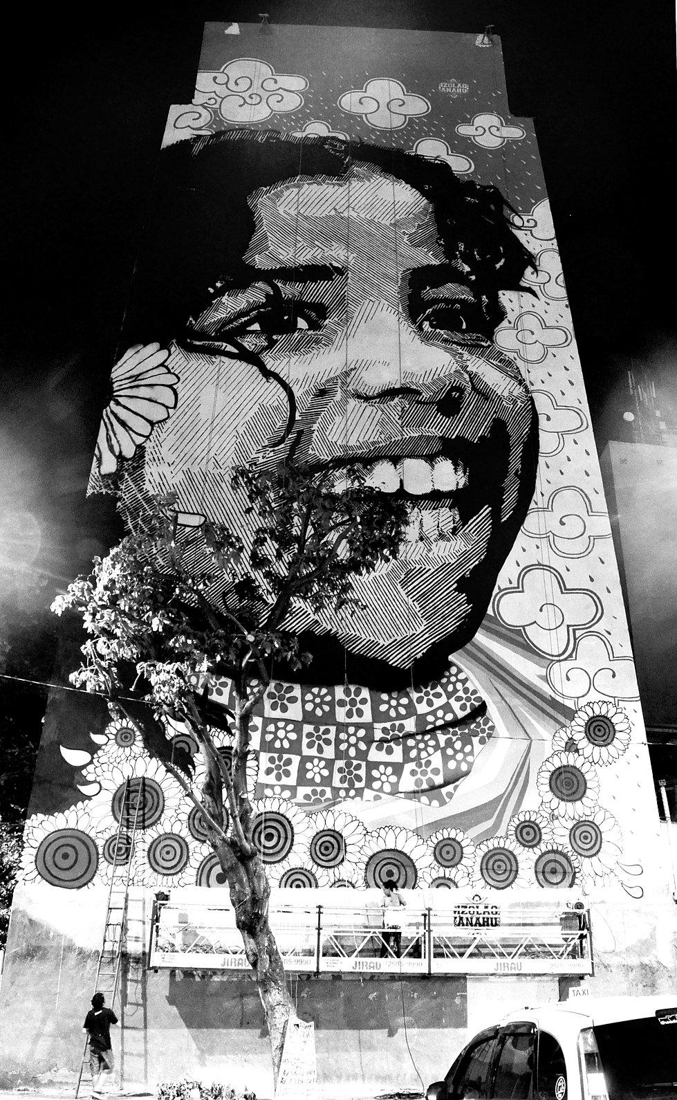The World's Largest Stencil, Muralism, mural, muralist, master, firme forte records, izolag, anahu, ananda nahu, rio de janeiro, streetart rio de janeiro, arte urbana, stencil, biggest stencil, firme forte records, graffiti, urban art, liceu das artes