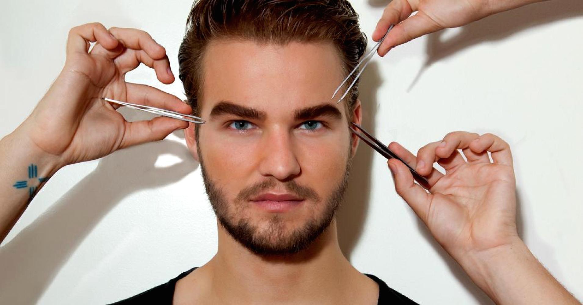 Мужские брови коррекция своими руками