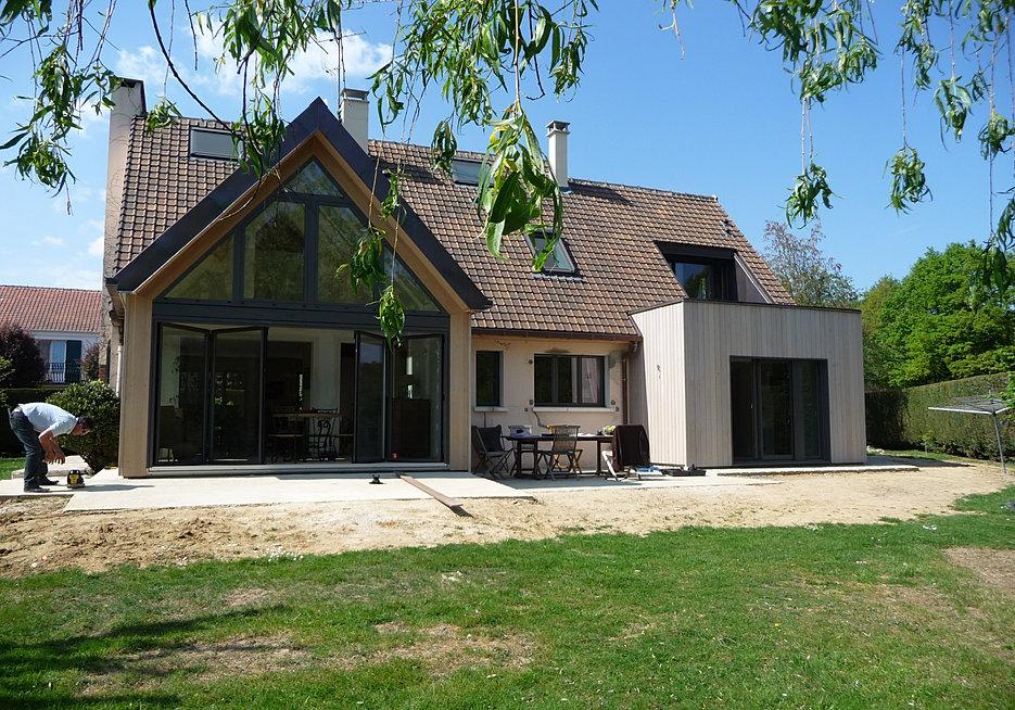 Dominique binder architecte new habitat for Extension maison 67
