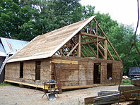 Hand Hewn Timber Log Home