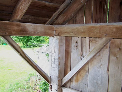 Hand Hewn 18 Century Gunstock Frame