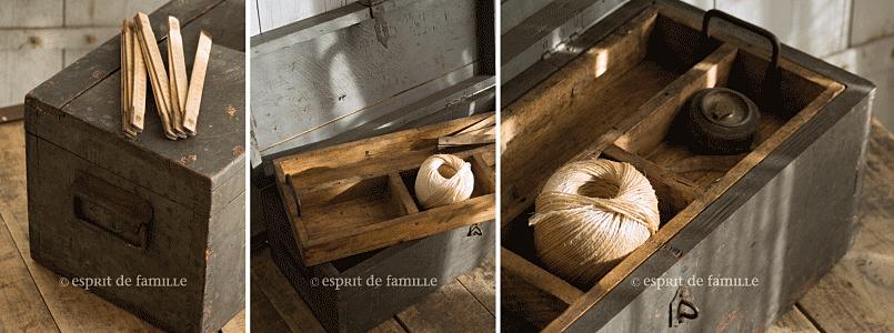 Brocante vintage industrielle campagne - Malle industrielle ...