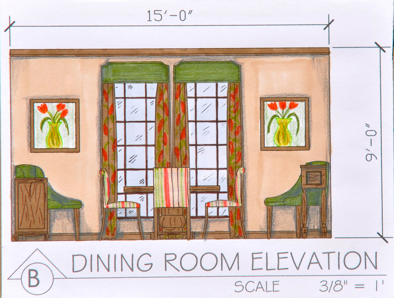 Free website built by emhedgpath using classic portfolio for Dining room elevation