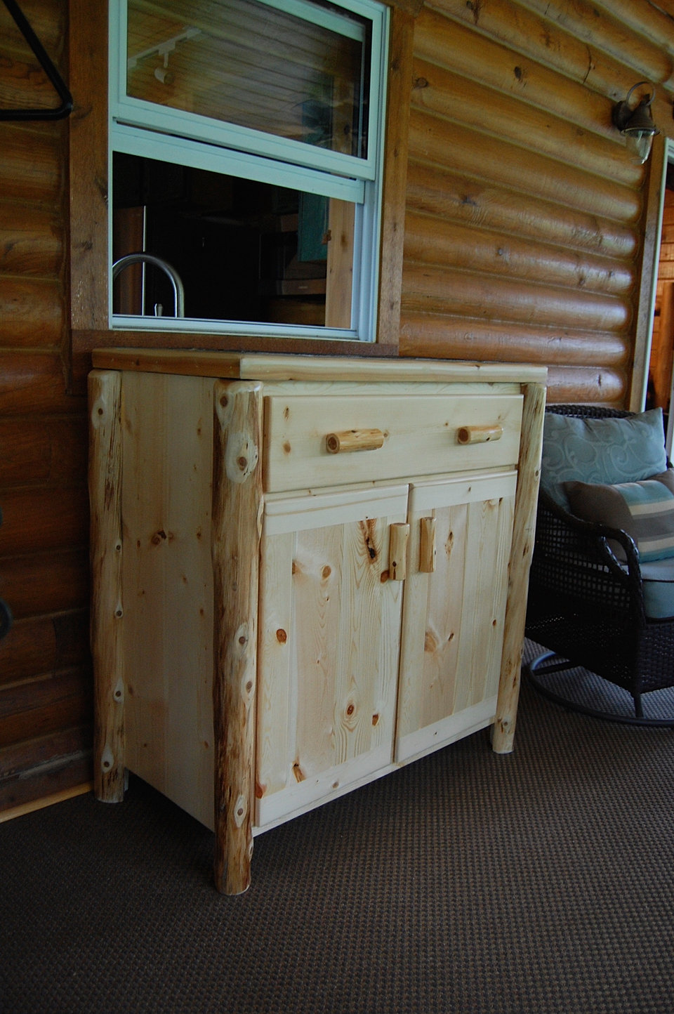Pine Log Bedroom Furniture Tru North