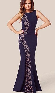 Vestido Azul Marino Largo $25000
