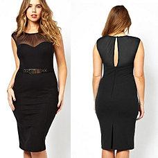 Vestido negro transparencias $29500