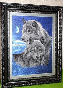 Волк в вышивке значение 95