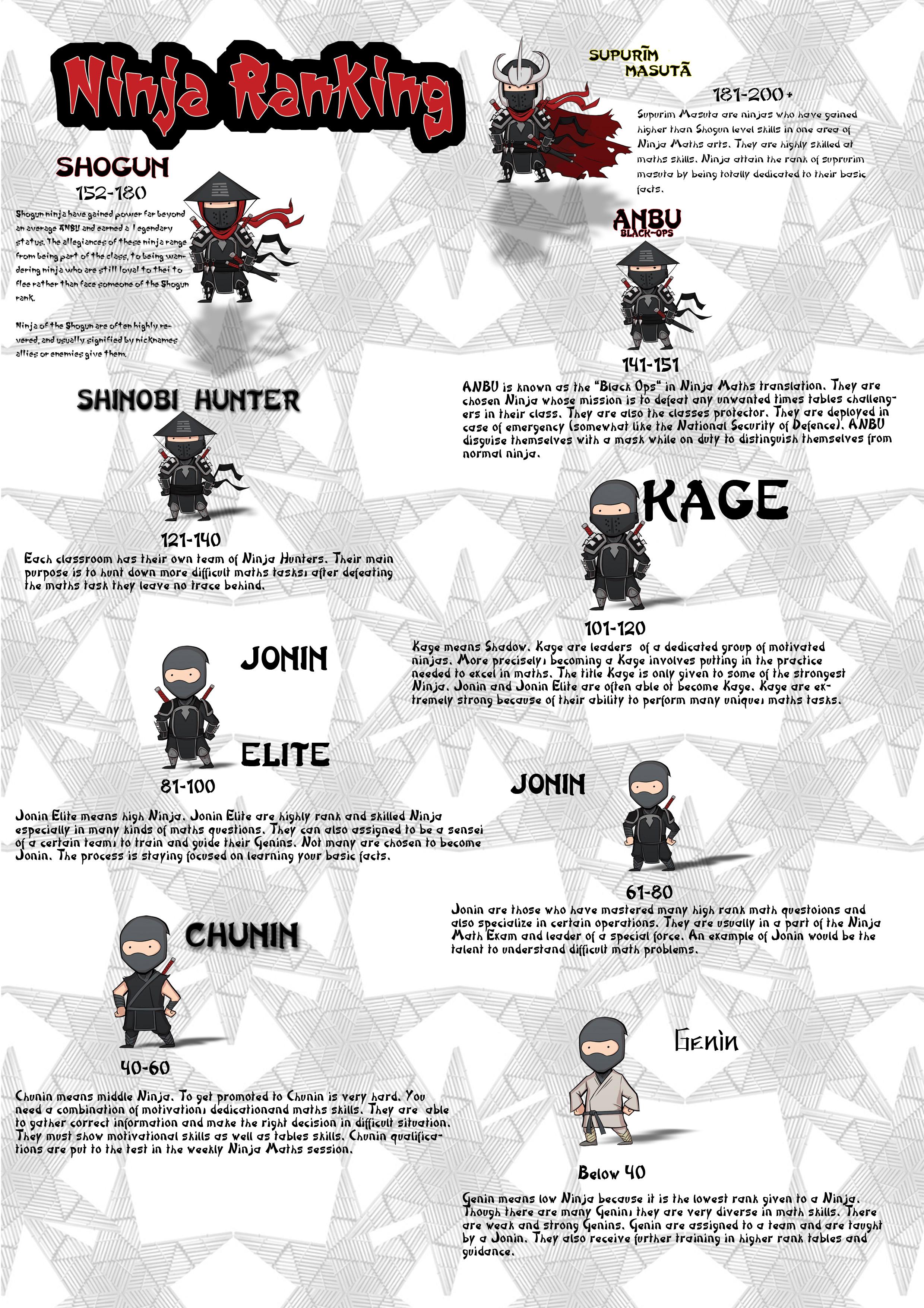 ninja maths stjeromes