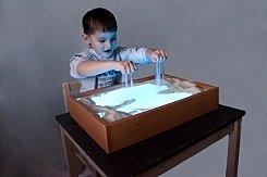 Столик с подсветкой для рисования своими руками