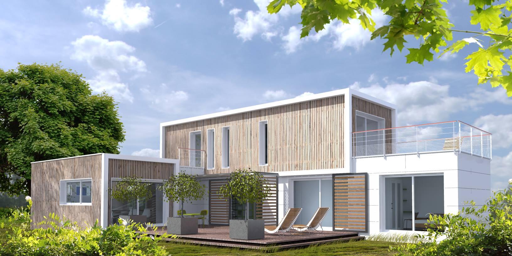 Summary -> Plan Maison Moderne Container Archionlinecom