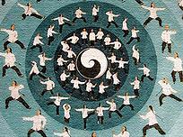 Tai Chi, Chen Village טאי צ'י, ציור קיר בכפר צ'ן