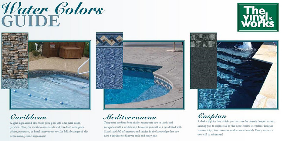 Monarch pools and spas in ground liners for Most popular pool colours