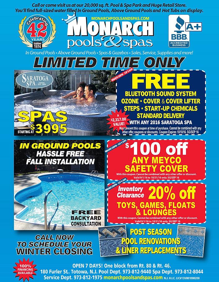 Pool Company Totowa Nj Monarch Pools And Spas
