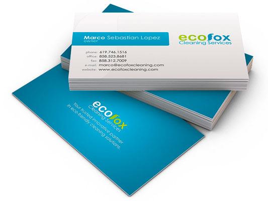impresión tarjetas comerciales profesionales personalizadas creativas