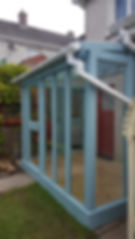 Handmade wooden painted Glazed Extension / Double Glazed Patio / Conservatory  Bespoke custom conservatories, patios and garden rooms  Each commission is a one off and no two are the same. Andrew will help you to design the room, cabin, conservatory or patio you want, with highest quality workmanship coupled with our 10 year warranty, fully qualified and insured for your peace of mind.  Adding a WoodEver bespoke wood and glass conservatory is an exciting opportunity to be creative with design and break with the tradition, offering a totally unique addition to your home adding a homely atmosphere with unlimited uses.  It is important that your new extension works with your existing buildings, our handmade bespoke conservatories blend seamlessly with your existing architecture to give you an extension which looks like it has always been there.  Size does matter.  Even the smallest spaces can create a unique addition to your home, you can have an additional room even in the smallest of