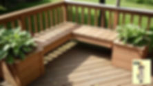 seating-decking-flowerpots.jpg Garden Seating    We prefer to build seats and benches