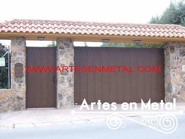 Estructuras metalicas herreria artes en metal herreros for Imagenes de garajes rusticos