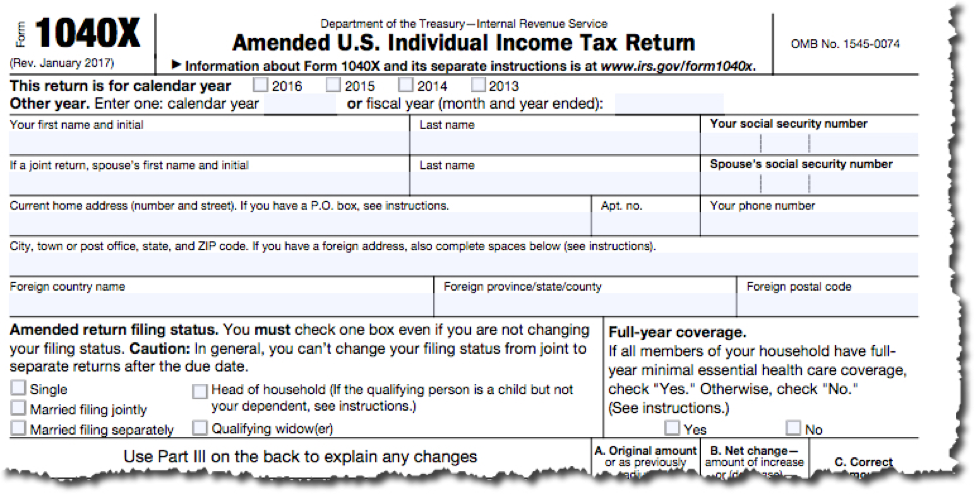 How Do You File An Amended Tax Return Sorenson Business