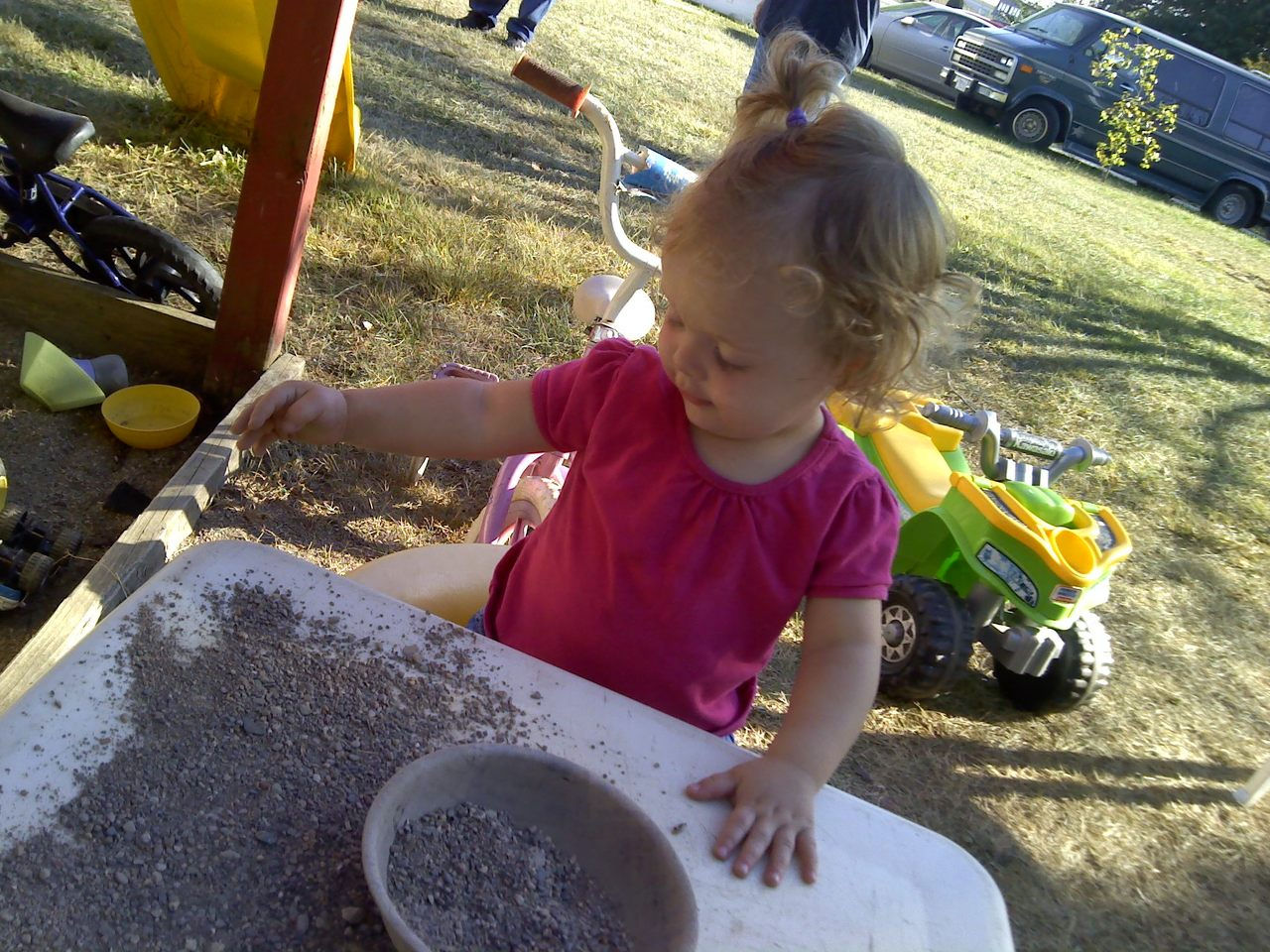 playin in the sand