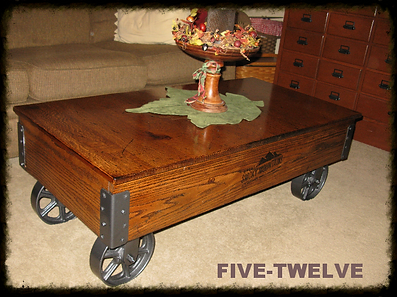 Railroad Coffee Table Cart, Handmade Coffee Table, Railroad Cart Coffee  Table, Custom Wood