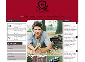 Escola Privada Template - Um template profissional e simpático dá as boas-vindas a pais e alunos. Aqui é o local perfeito para descrever seus programas, compartilhar notícias e fotos além de promover próximos eventos.