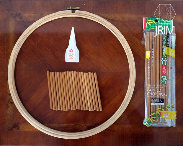 Tutorial diy embroidery hoop thread bobbin rack just