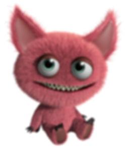 Animación peludo monstruo rosa