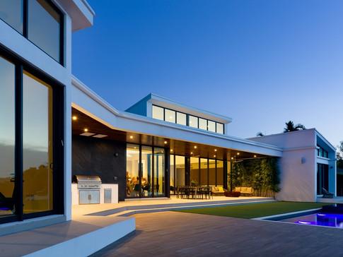 Night view North Miami Beach Residence