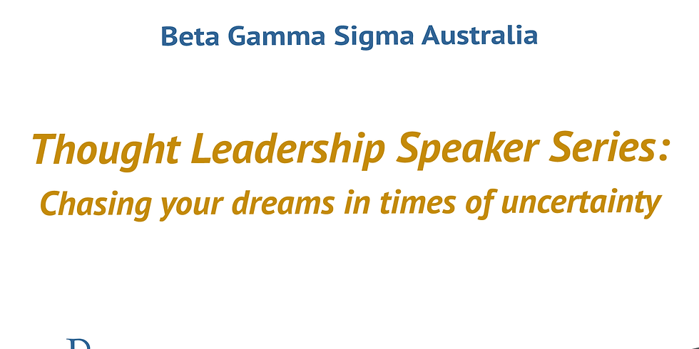 Thought Leadership Speaker Series: Chasing your dreams in times of uncertainty: Hilary Brainard