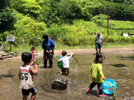 のびる この夏最初の水遊び