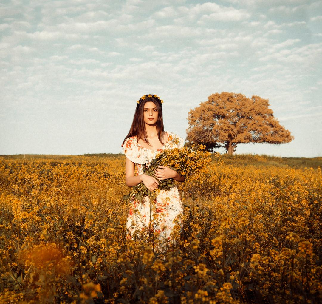 Dorit Lombroso Photography - Woman in Flower Field