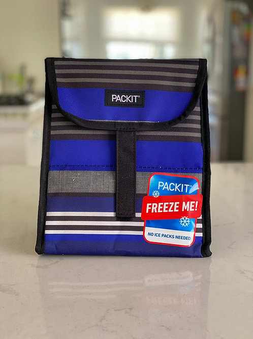Blue with stripes PackIt - Freezable Lunch Sack