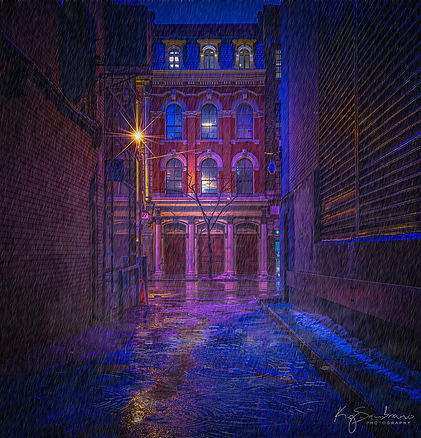 Light, Alley and Rain