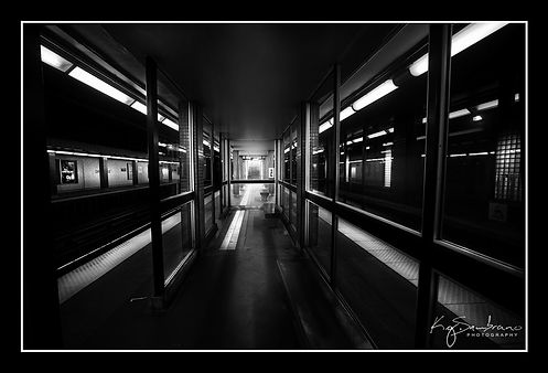 Davisville Station Black and White