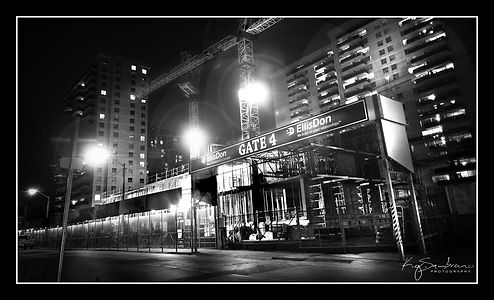 Construction site Night urban landscape