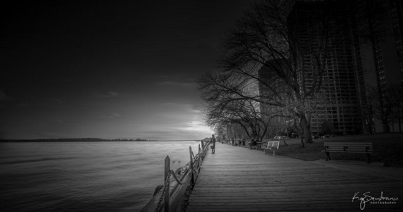Urban landscape, Toronto, fine art photographyferrywomanbw-1.jpg
