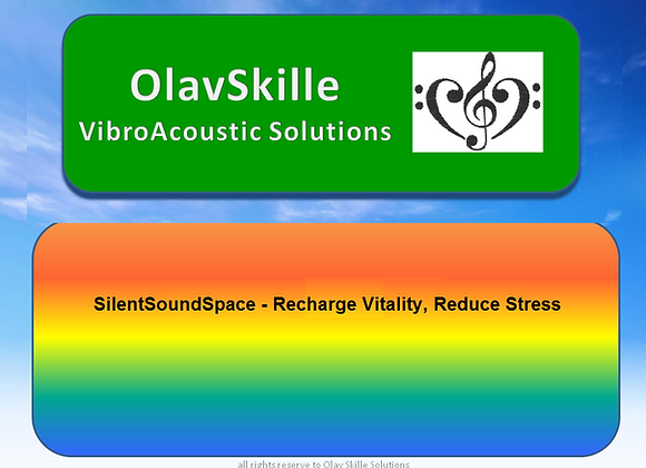 SilentSoundSpace  recharge Vitality  Reduce Stress
