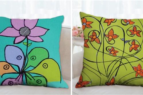 פרחים וציפורים