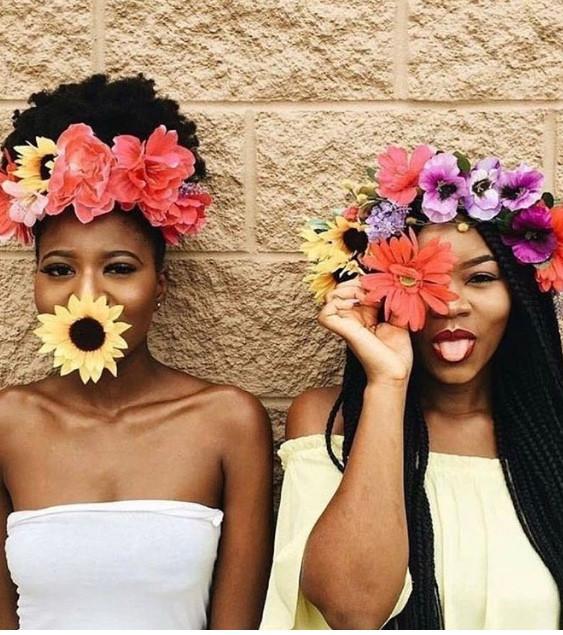 flower crown gals