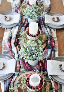 Cozy Christmas Tablescape