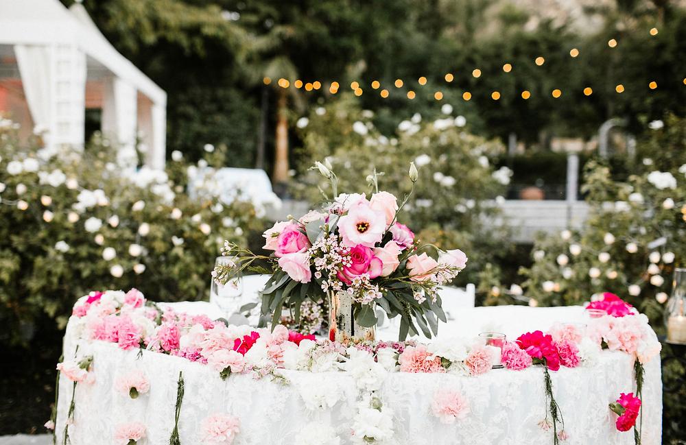 Hindu sweetheart table