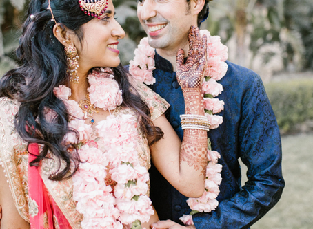 Modern Florals and Indian Traditions for a California Bride and Groom